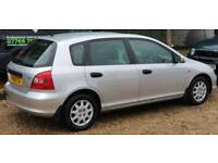 Honda Civic, 1.4, 5 door, 130,000, recently serviced in June, MOT until Dec - £600