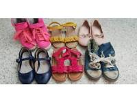 6 x pairs of girls next shoes size 9