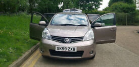 2009 59 NISSAN NOTE AUTOMATIC -5 DOORS WITH NAVIGATION