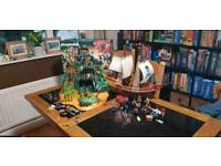 Playmobil island and pirate ship