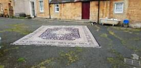 Large Eastern blue ground rug Persian 500cm x 400cm wool John Lewis Country House Style