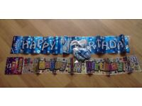 2 x 21st Birthday Party Banners and Balloons