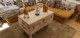 Fabulous 1950's upcycled trunk table