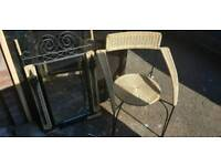 Seagrass chair and mirror