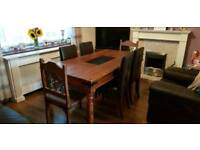 Solid Sheesham Dining Table and chairs