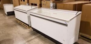 Brand new 6 ft glass display freezer with baskets