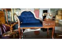 Beautiful Italian telephone chair and old still telephone, Excellent condition