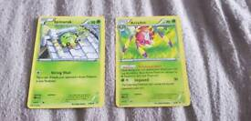 Spindra and Ariados Ancient Origens Pokemon cards