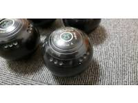 2 set of lawn bowls - 1 x excellent condition / 1 used