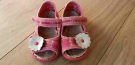 Baby Girl Canvas Sandals 3.5F