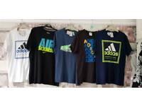 Boys Adidas and nike t-shirts age 13-15