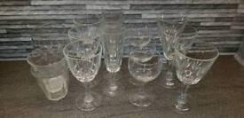 15 x Various Glasses / Chaimpagne Flutes / Wine / Tumbler