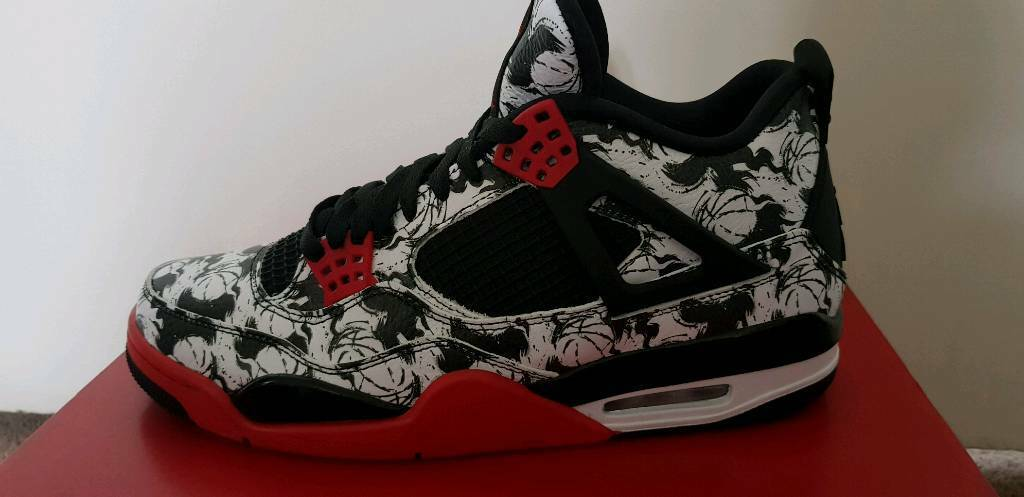 Nike Air Jordan 4 Singles Day Tattoo Uk 9 In Northolt London