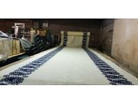 6m fabric cutting table, wood, section assembly