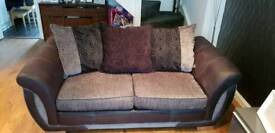 4 seater and 2 seater with foot stool