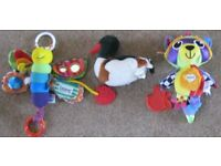 Baby toys and snuggle cloths.