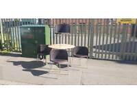 Beech wood table and 4 chairs