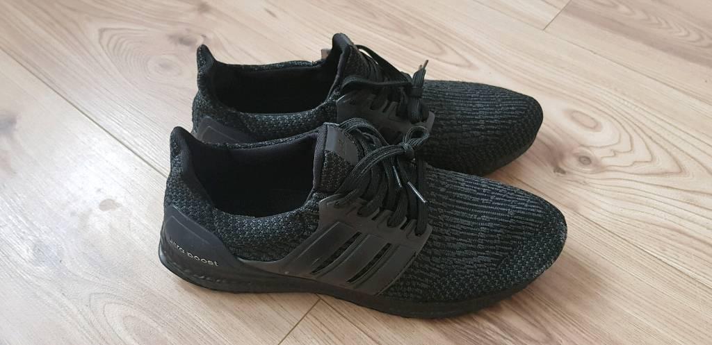 321b08cc9bd Adidas ultra boost 4.0 triple black uk9.5