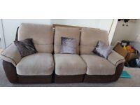 Reclining 3 seater sofa