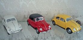 Three Franklin Mint Beetles 1:24 Scale