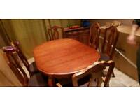 Solid Wood Dining Table-(PRICE REDUCED FOR QUICK)