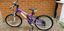 "Carrera Luna Purple 20"" Mountain Bike"