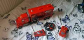 Remote control mack lorry and lightening McQueen car