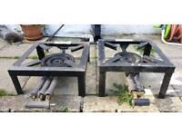 2 cast iron burners