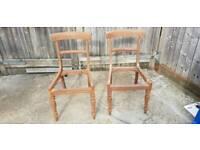 2 mahogany chairs need renovating