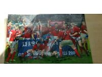 Wales rugby grand slam 2008 signed