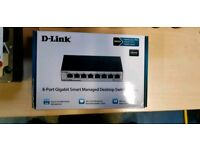 New D-link 8 port Desktop switch