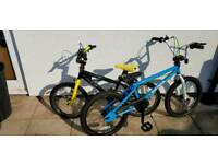 BMX bikes for sale, 20in and 18in wheels