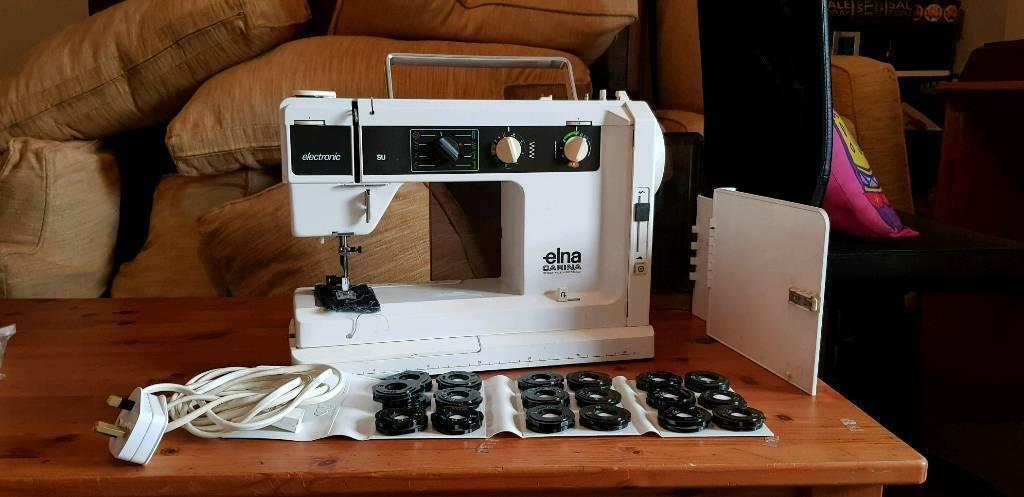 ELNA CARINA SU AIR ELECTRONIC CAM SEWING MACHINE WITH ALL CAMS AIR Custom Elna Carina Sewing Machine