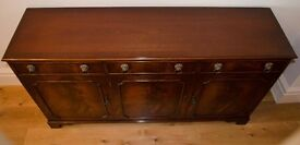 Sideboard, excellent condition, three drawers and cupboards