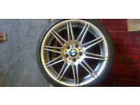 Bmw alloy wheels (front) with run flat tyres