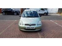 2002 Toyota Yaris 1.3 VVT-i 16v GLS 3dr Auto @07445775115