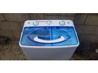 new portable twin tub washing machine bought for caravan but would also suit small flat or student