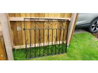 Gates. Wrought iron double drive way gates