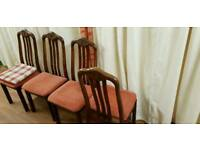 4 dining chairs, with free delivery