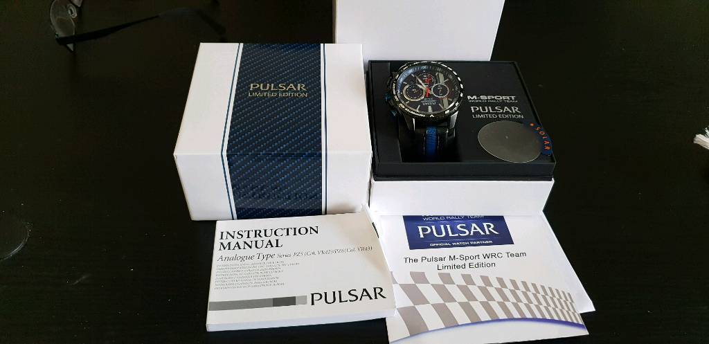 Pulsar Seiko Solar Power M Sport Wrc Limited Edition Chronograph