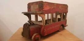 1920s Triang wooden london bus