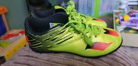 Boys Addidas Messi football shoes size 1
