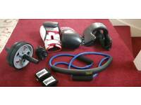 Boxing Gloves & Training set complete