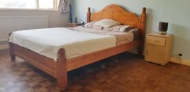Master double bedroom fully furnished incl. bills in quiet area with garden views