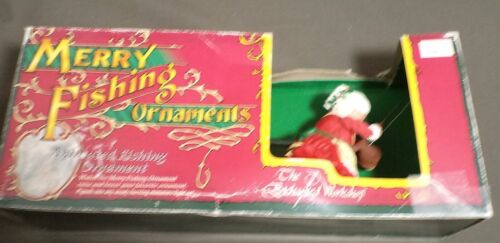 Vintage Mrs Santa Claus Merry Fishing Ornament by The Enchanted Workshop