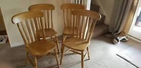 Lat back beech chairs
