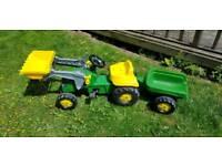 John Deere kids tractor & trailer