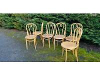 6 vintage bentwood french bistro chairs