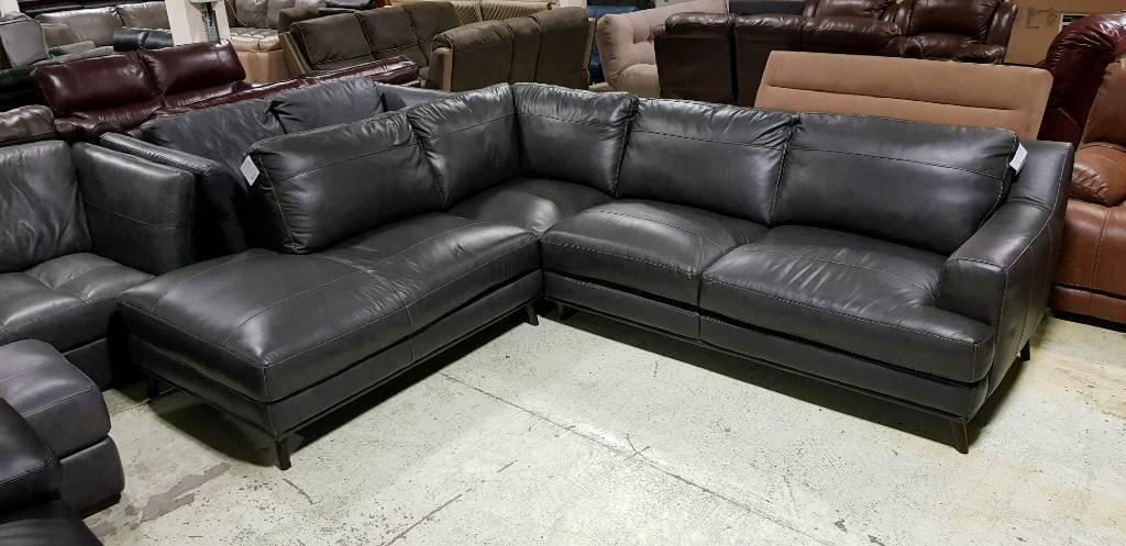 Charcoal Grey Corner Sofa Rrp 1299