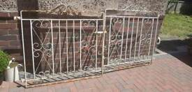 """Pair of iron gates for opening approx 8'6"""""""